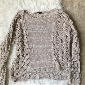 Apt. 9 Sweaters - Chunky Knit Slouchy Oatmeal Sweater top S
